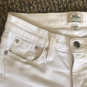 J. Crew White Jeans